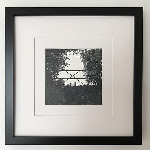 'Gates to Bredon' framed print