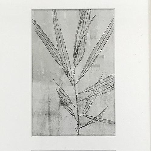 'Three Palms' oak framed print