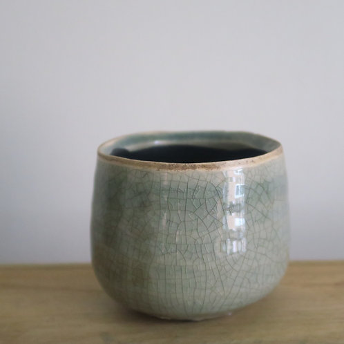 Sage glazed mini pot