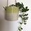 Thumbnail: Porcelain hanging planter with lime glaze