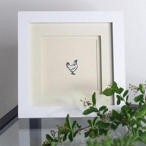 Little hen framed print