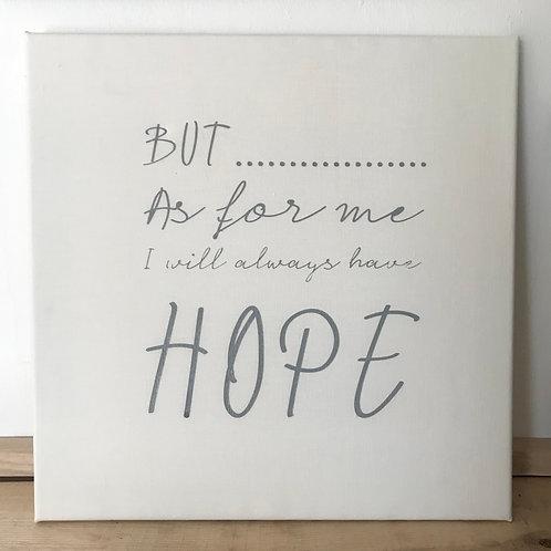 'Hope' canvas