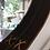 Thumbnail: Leather-edged round mirror