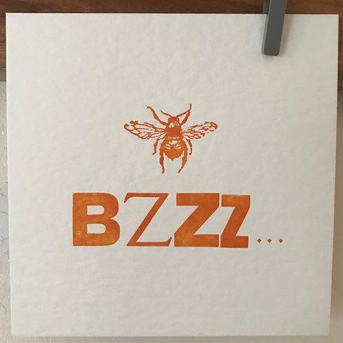 'Bzzz' postcard