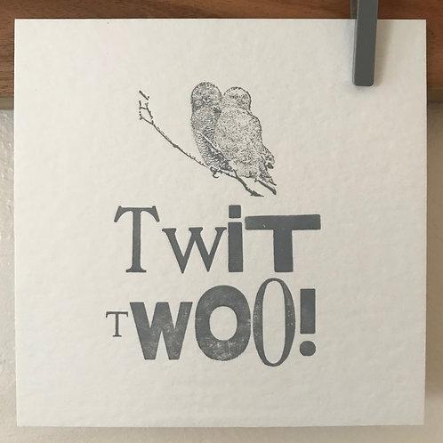 'Twit Too' postcard