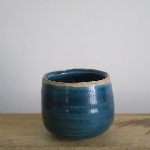 Turquoise glazed mini pot