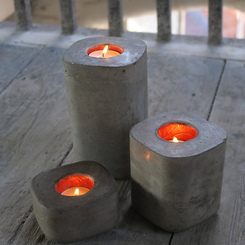 Pillar tea light trio