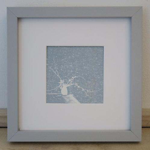 Vase print in duckegg blue