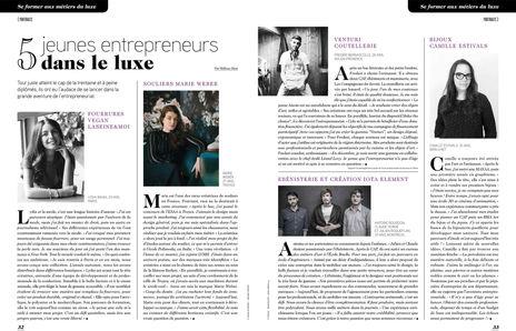Camille Estivals presse Le Figaro entrepreneur dans le luxe