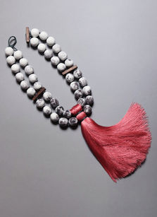 Collier porcelaine bois et textile Oeko-Tex Camille Estivals