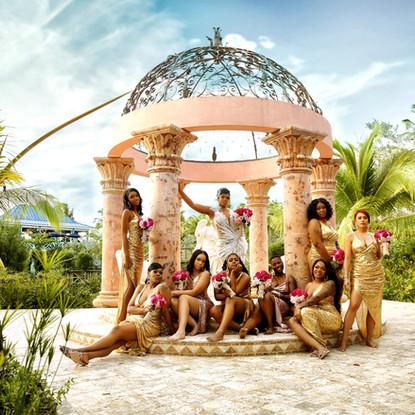 Destination wedding of bridal party shot in the Bahamas by Ag Photos