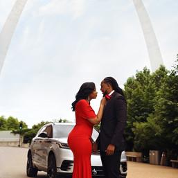 Engagement shoot under the St. Louis arch
