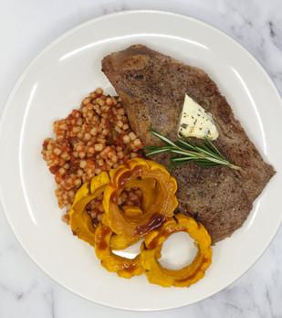 Beef Ribeye w/Rosemay Butter