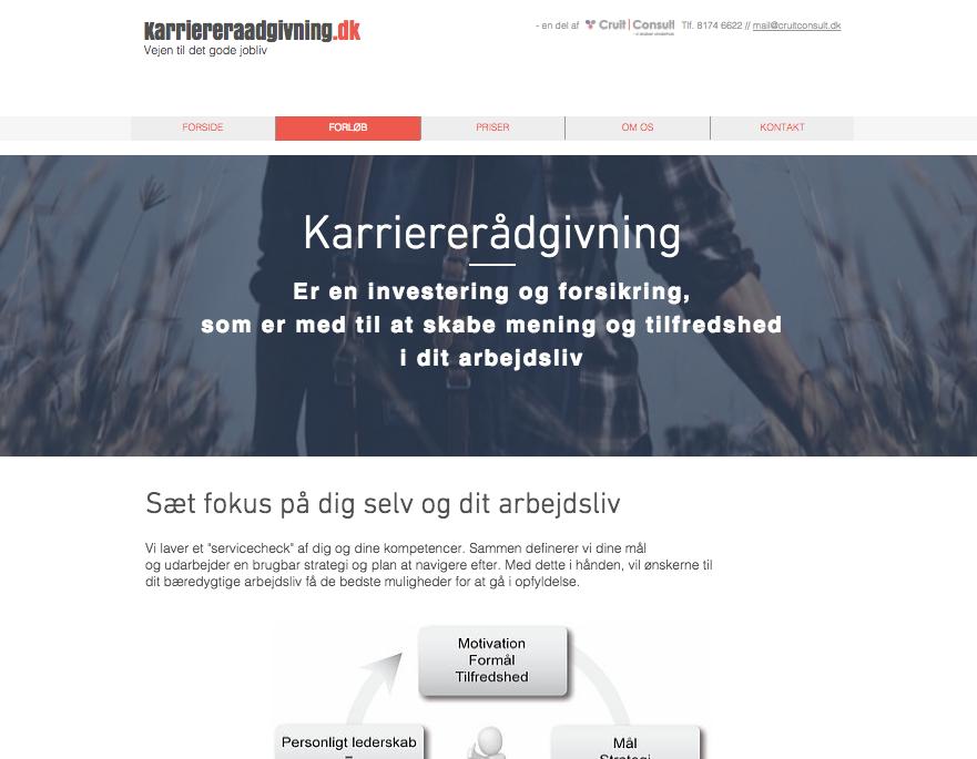 Simple statements på website