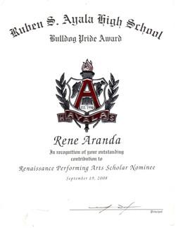 Renaissance Performing Arts Scholar Nominee