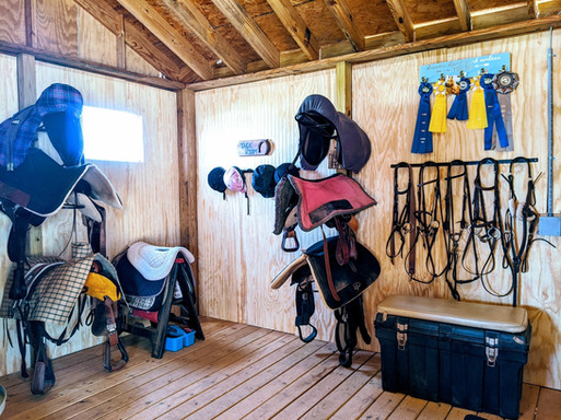 Our tack room