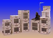 Stacking Aluminum Dog Crates