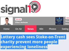 Lottery cash sees Stoke-on-Trent charity prevent more people experiencing loneliness