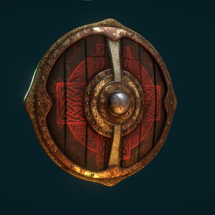 Battle Worn Viking Shield