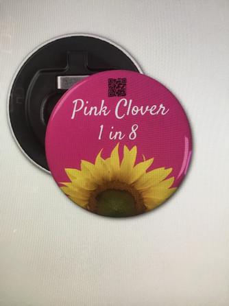 Pink Sunflower Bottle Opener