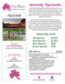 Pink Clover Sponsorship Form - Feb. 2020