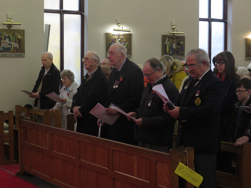 Our Veterans on Remembrance Sunday