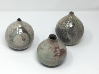 Raku spheres 4-5-6