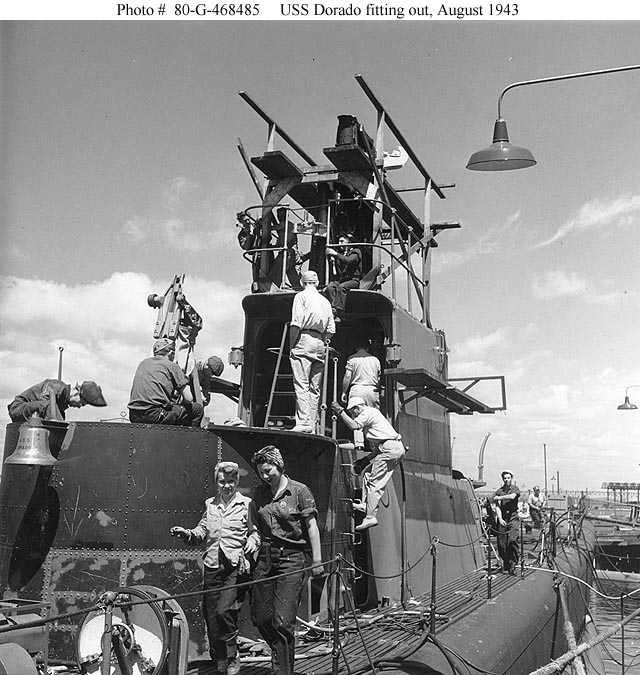 The USS Dorado's (SS-248) construction,