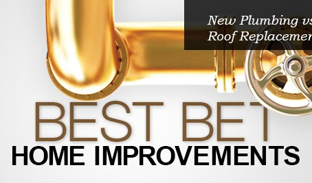 Want to improve your home and increase its value? New Plumbing vs Roof Replacement