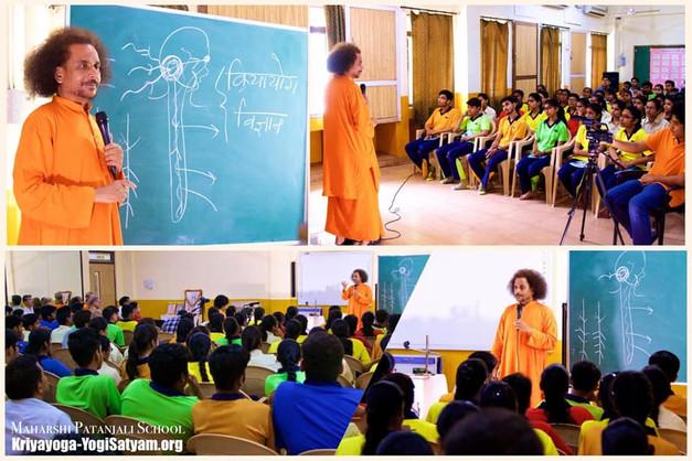 Guruji at Maharishi Patanjali School