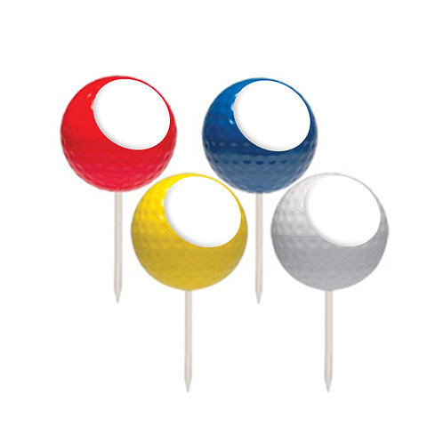 Ball Shape Tee Markers - Logo