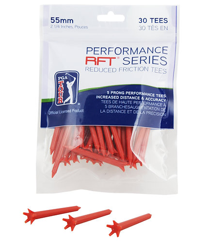 PGA Tour Performance Red Tee 55mm (30)