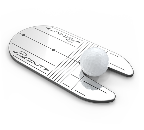 Putt Out Compact Mirror
