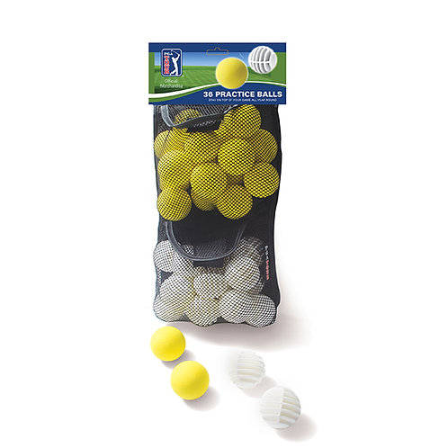 PGA Tour Practice Ball in Mesh Bag - 36 Bag