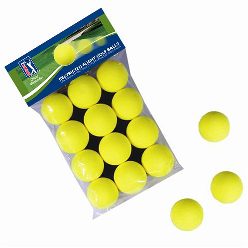 PGA Tour Yellow Foam Balls - 12pkt