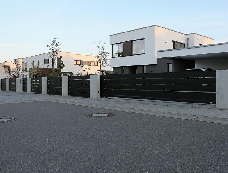 Sichtschutz Zaun Beton Aluzaun