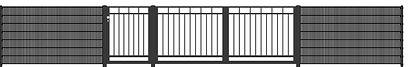 moderner Stabmatten Zaun