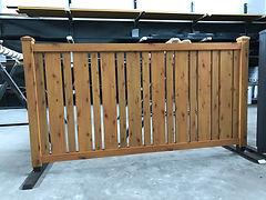 Aluminium Holz Optik Zaun