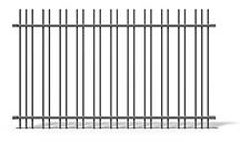 Doppelstreben Zaun