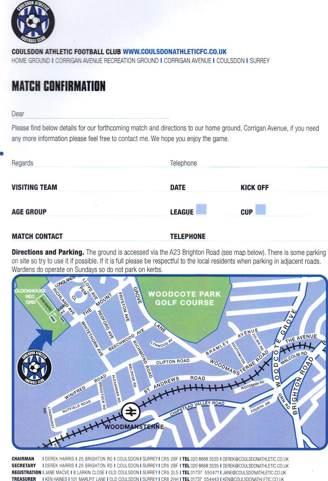 Match confirmation