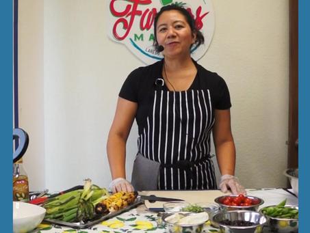 Black Bean, Grilled Corn & Cilantro Microgreen Salad