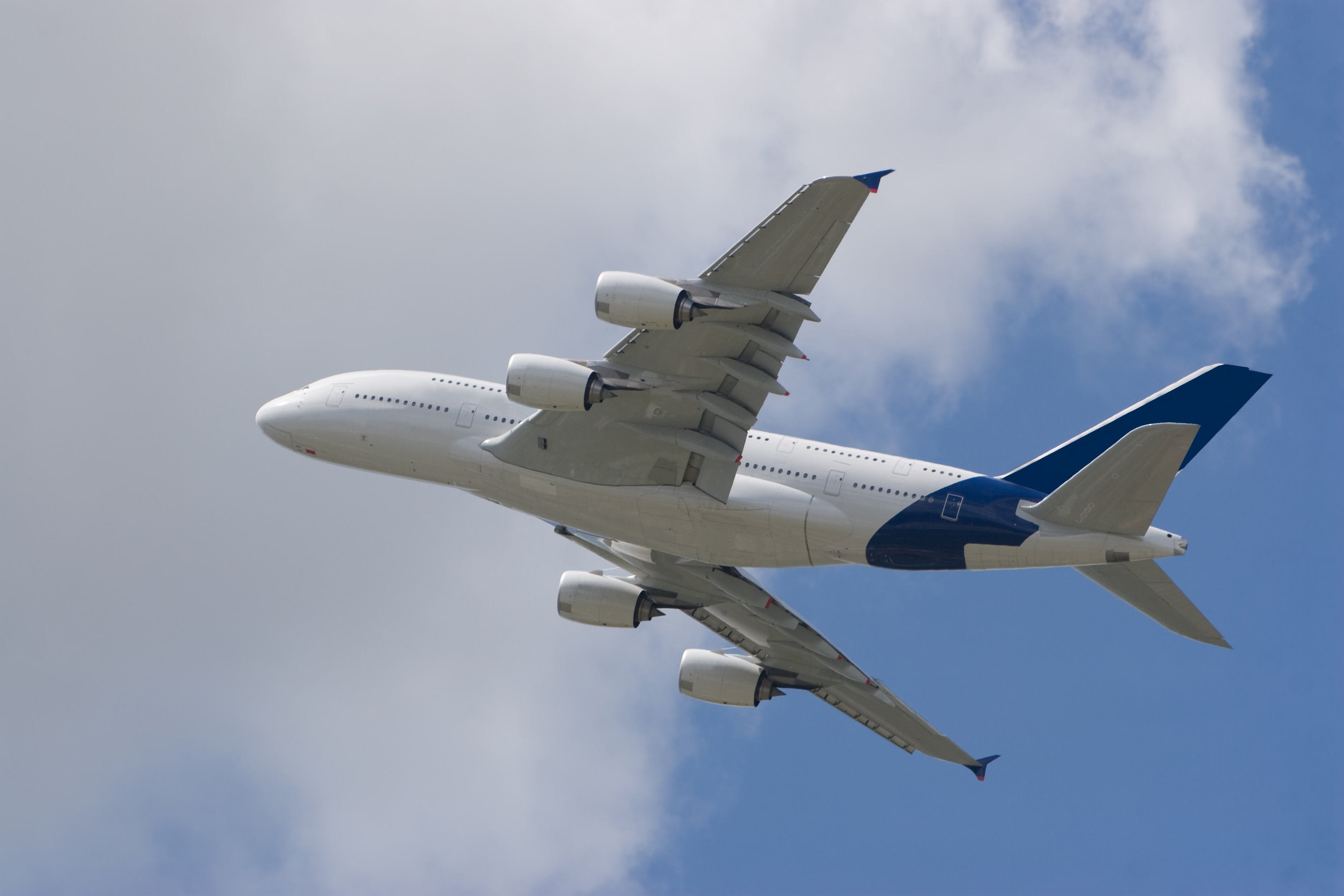 Airbus A380 in the Air without trademark