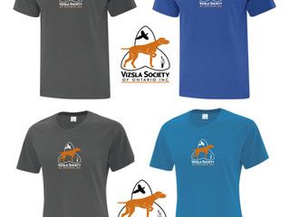 VSO Tees, caps and Vizsla note cards!