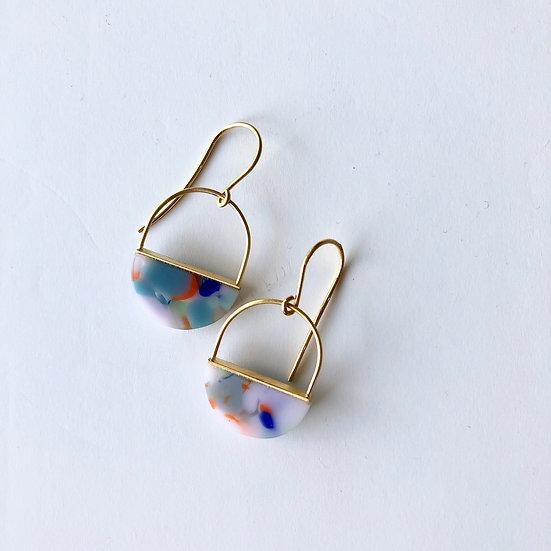 Boucles d'oreilles en verre