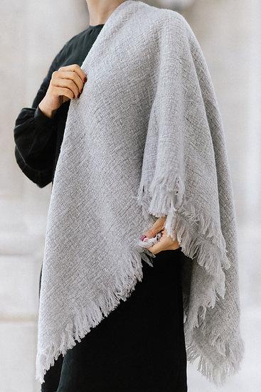Gray beige cashmere scarf