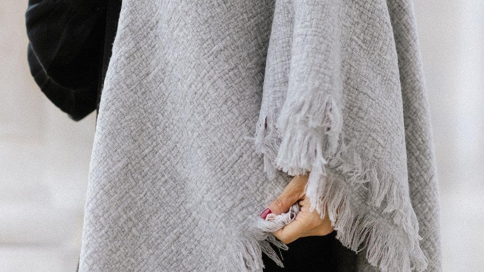 Echarpe en Cachemire beige gris        Stole in Cachemir beige grey