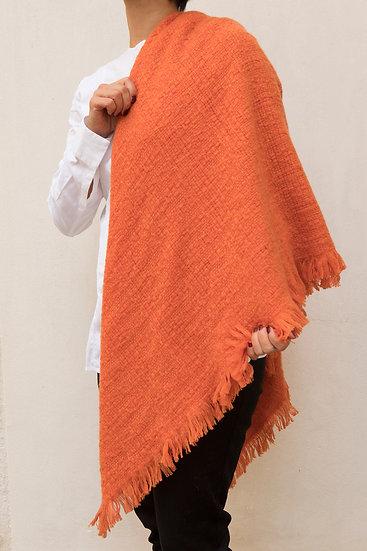 Echarpe en Cachemire orange abricot
