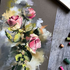 SoftPastelsOriginalPainting_RosesFlowers