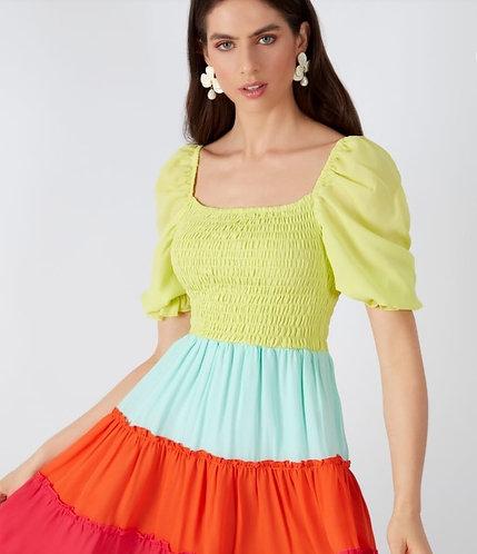 Vestido Lucy max Babados