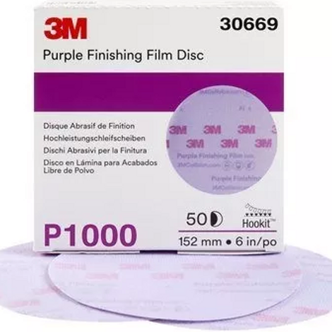 Disco Hookit velcro púrpura de acabado Disco Hookit velcro púrpura de acabado